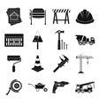 Architecture Icons set simple style vector image vector image