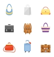 Bag icons set vector image vector image