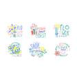 best flower shop logo design set florist boutique vector image vector image