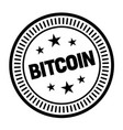 bitcoin stamp on white vector image vector image