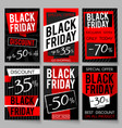 black friday sale advertising posters