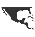 blank political map of central america and mexico vector image vector image