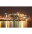 Blurred City Lights by a Harbour vector image vector image