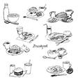 breakfasts set vector image vector image