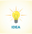 business concept creative idea with light lamp vector image
