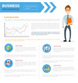 business infographics set copy space for vector image vector image