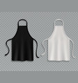 chef apron black white culinary cloth aprons chef vector image
