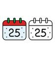 Christmas calendar icon on white background