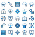 cloud gaming colored icons playing games vector image vector image