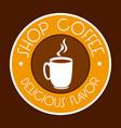 coffee design icom ilstration vector image vector image