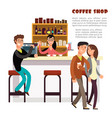 coffee shop concept with take away coffee vector image vector image