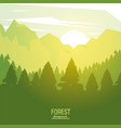 colorful poster forest background with sunrise vector image vector image