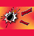 comic book style background with bomb explosion vector image