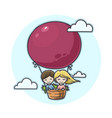 couple in a balloon vector image