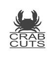 crab seafood vintage icon label logo vector image