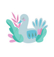 cute nesting bird symbol spring colorful vector image