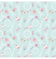 Cute seamless pattern background with Eiffel tower vector image
