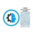 Cyborg Rounded Icon with 1000 Bonus Icons vector image vector image