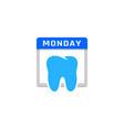 dental calendar logo icon design vector image