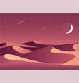 desert night landscape vector image vector image
