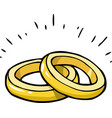 doodle marriage rings vector image vector image