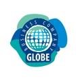 Earth logo template Globe sign vector image vector image