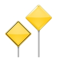 Empty Warning sign vector image vector image