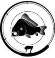 fishing badge vector image