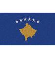 Flags Kosovo on denim texture vector image