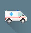 flat ambulance car icon vector image vector image