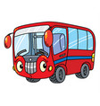 funny small bus with eyes vector image vector image