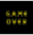 Game over text vector image vector image