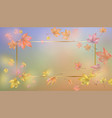 golden frame with autumn leaves vector image vector image