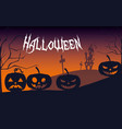 halloween card with haunted castle vector image vector image