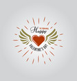 happy valentines day typographic labels vector image
