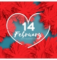 Heart Flower paper Happy Valentine s day vector image vector image