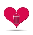 heart red cartoon pop corn icon design vector image