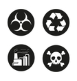 Industrial pollution icons vector image vector image