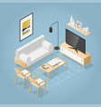 isometric living room vector image vector image