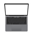 laptop mockup with blank screen vector image vector image