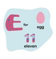 letter e for children alphabet vector image