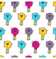 light bulb heart hand drawn pattern-11 vector image vector image