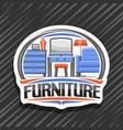 logo for furniture vector image