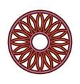 mandala retro culture icon vector image vector image