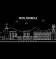 marbella silhouette skyline spain - marbella vector image vector image