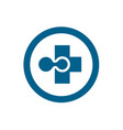medical technology plus positive cross logo icon vector image vector image