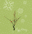 Merry Christmas with tree thankful for you vector image