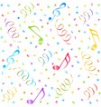 music seamless background vector image vector image