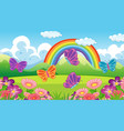 nature scene background with butterflies