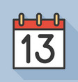 number and calendar icon outline icon with long vector image